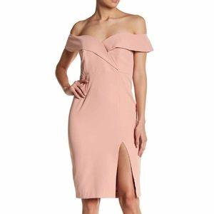 Peach Bella midi dress